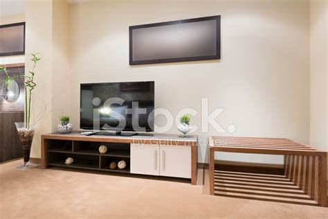 Free Tv With Living Room Set Tv Set In Modern Living Room Stock Photos Freeimages