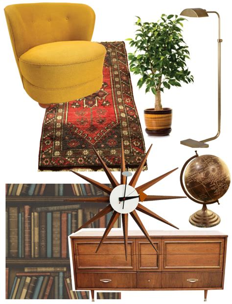 mad men inspired office with chairish studio style blog designing a den with retro mod appeal brewster home