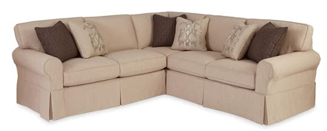 slipcovered sectionals furniture craftmaster 9228 two piece slipcovered sectional sofa with
