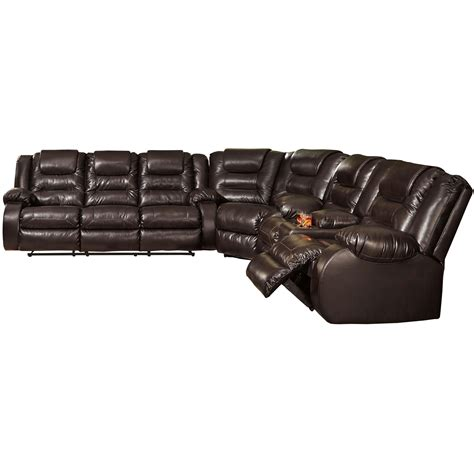signature design sectional sofa signature design by vacherie casual reclining