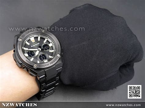 Casio G Shock Gst S110g 1a buy casio g shock g steel analog digital solar all black