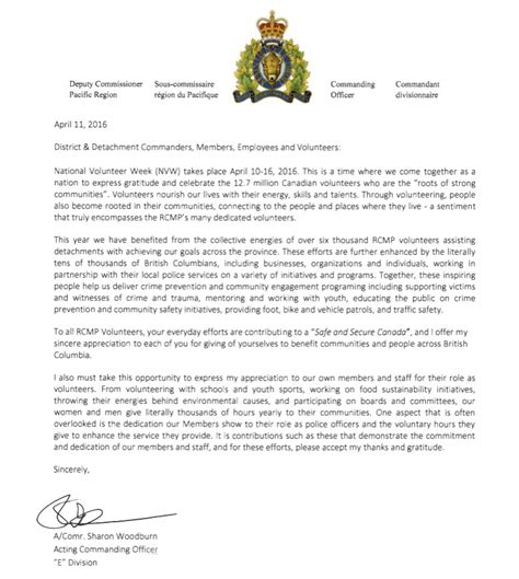 appreciation letter to foster parents volunteer appreciation letter from deputy commissioner