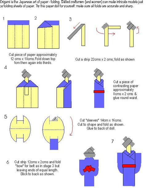 How To Make A Doll Out Of Paper - 17 best ideas about japanese origami on paper
