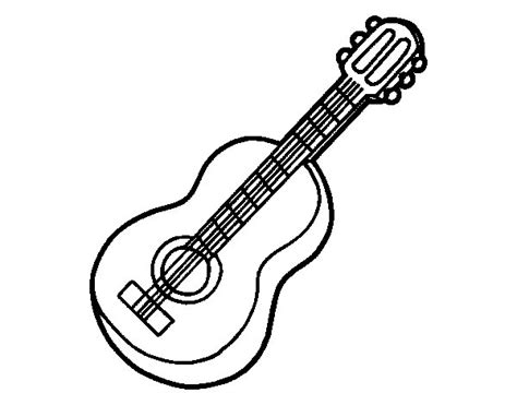 coloring page for guitar classical guitar coloring page coloringcrew com
