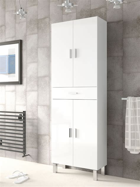 rimini bathroom cupboard white gloss