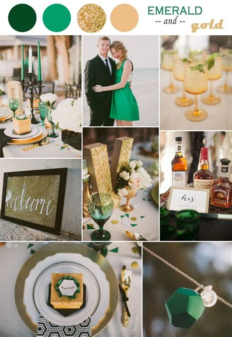 emerald wedding theme on emerald green