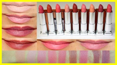 Maybelline Inti Matte new maybelline inti matte lipsticks swatches