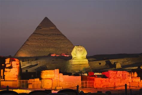 Pyramid Sound And Light In Giza Pyramids