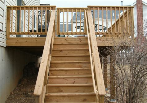 handrails for stairs deck wooden handrail for stairs