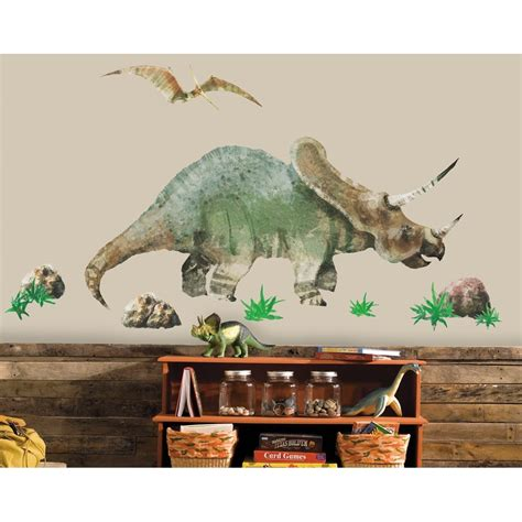 dinosaur wall decals triceratops dinosaur wall decals dinosaurs room stickers decor great gifts