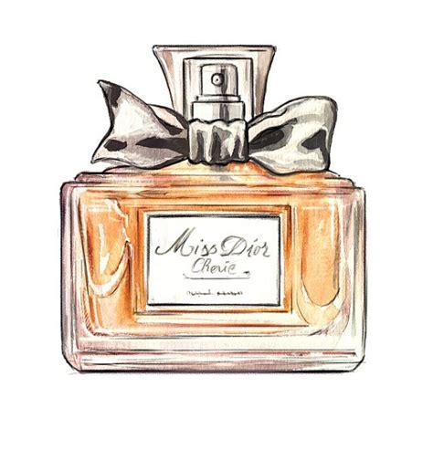 Miss Perfume Bottle miss cherie perfume bottle watercolor by