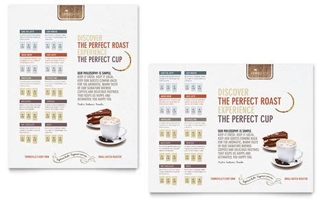coffee shop poster template word publisher