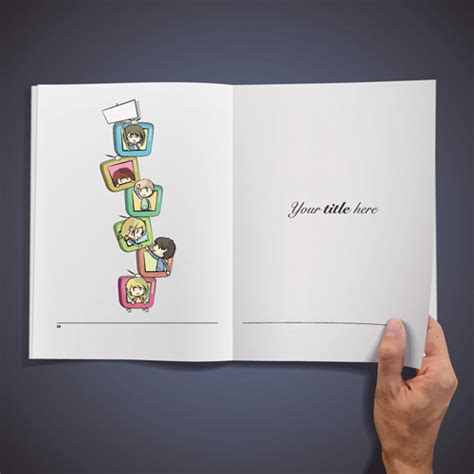 graphics design book in bangla free download hand opened blank book design vector 04 vector cover