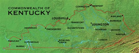 kentucky map facts some facts about kentucky