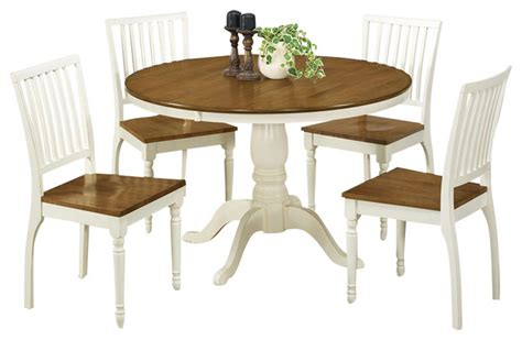 White Oak Dining Room Set by 5 Dining Room Set In Antique White And Oak