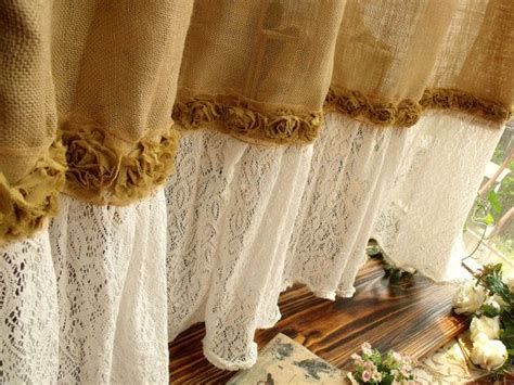 Burlap And Lace Curtains Best 25 Burlap Shower Curtains Ideas On Burlap Shower Shabby Chic Shower Curtain