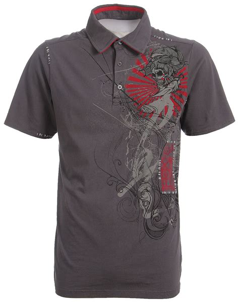 Polo Shirt Fox Racing fox racing fox inked polo shirt charcoal reviews