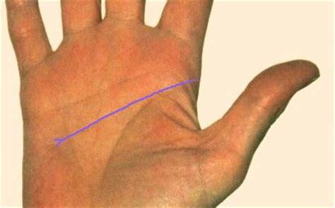 la mano sulla la linea della testa