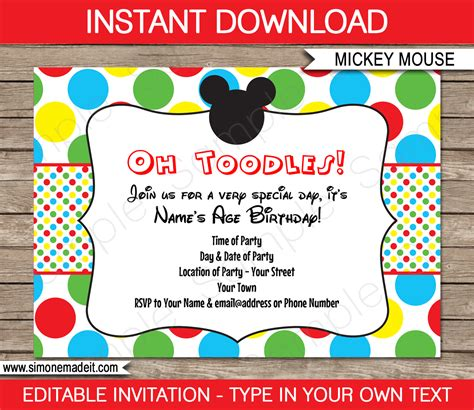 mickey free printable frames invitations or cards hecho hech