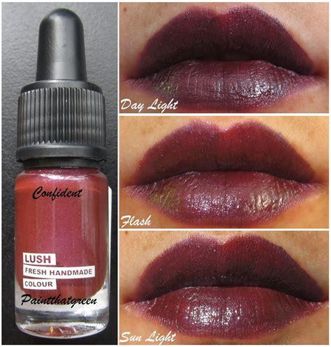 Lush Handmade Cosmetics Review - paintthatgreen lush handmade cosmetics lipstick review