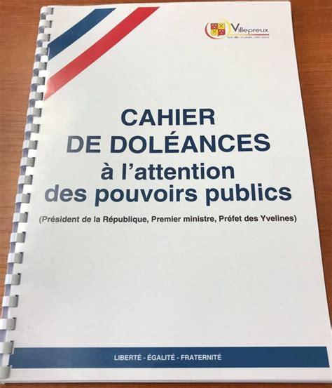Modèle De Registre De Doléances yvelines le maire de villepreux ouvre des cahiers de
