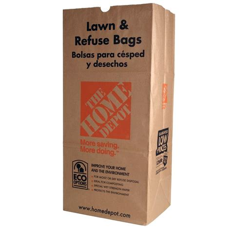 the home depot 30 gal paper lawn and refuse bags 5 count 49022 the home depot