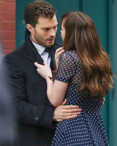 fifty shades darker filming now dakota johnson goes topless as she films raunchy fifty