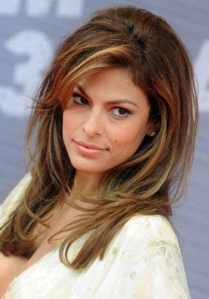 eva mendes highlighted hairstyle hair   eva