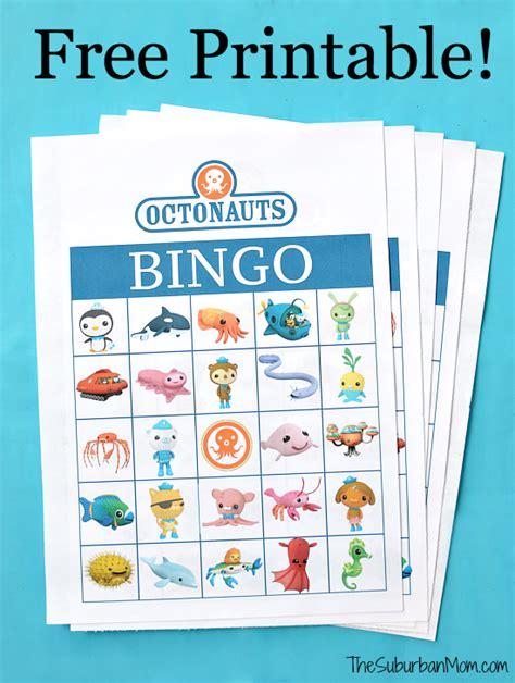 octonauts birthday free printable bingo