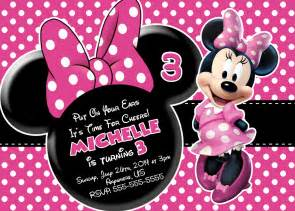 minnie mouse birthday invitations templates ideas all invitations ideas