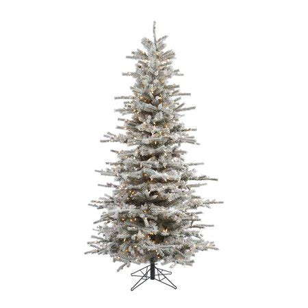 12 ft slim flocked christmas tree vickerman 8 5 flocked fir slim artificial tree with 850 clear lights walmart