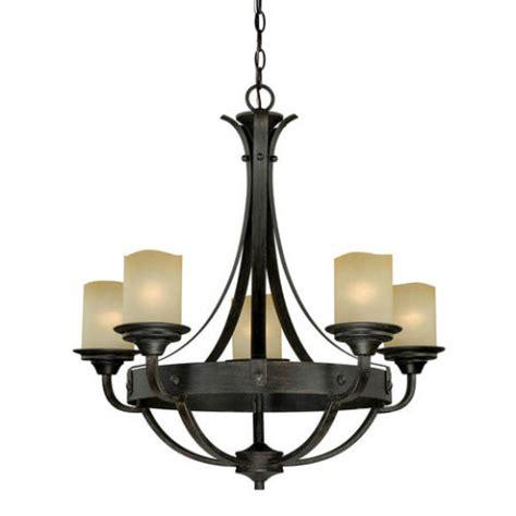 oakland 5 light 27 quot reclaimed wood chandelier at menards