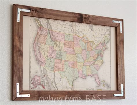 how to hang a map without a frame decorating large walls large scale wall art ideas
