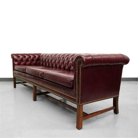 Vintage Chippendale Style Leather Chesterfield Sofa At 1stdibs Chesterfield Style Sofas