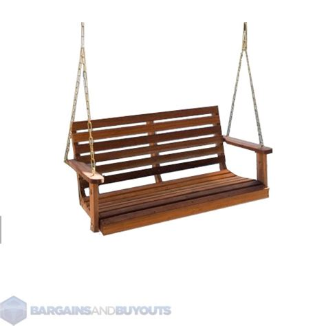 porch swing hooks bay ridge wooden porch swing 5 ft without comfort springs
