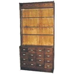 Apothecary Wall Cabinet by Oak Apothecary Wall Cabinet 16 Drawers W Iron Pulls