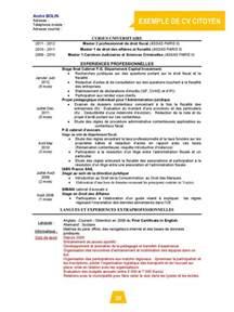 Curriculum Vitae Guide by Cv Citoyen Mode D Emploi