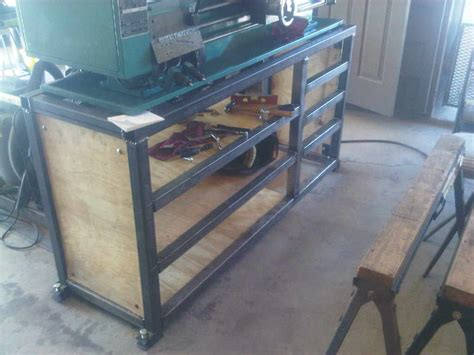 homemade metal work bench diy metal lathe bench plans download pdf