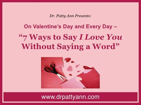 on s day and every day 7 ways to say i you
