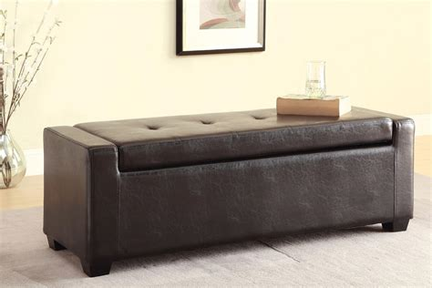 storage ottoman faux leather faux leather storage ottoman