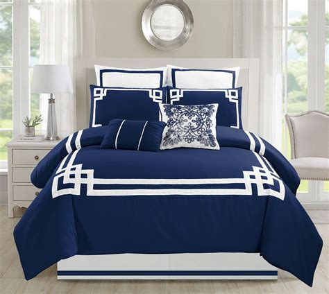 8 piece bedding set 8 piece lucca navy comforter set
