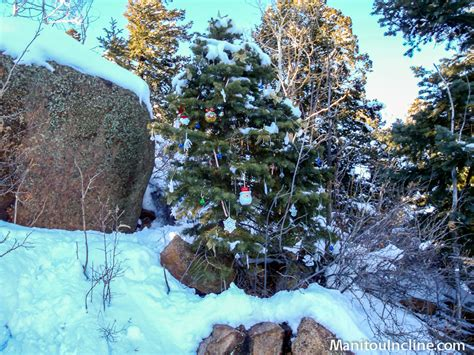 christmas ornaments for tree at top manitou incline