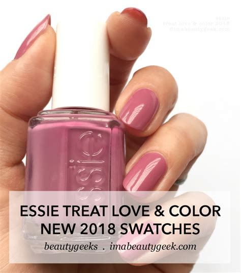 new essie colors essie treat color swatches review 2018 beautygeeks