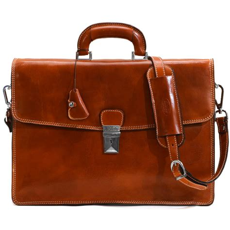 Italian Leather by Italian Leather Briefcase Bag Fenzo Italian Bags