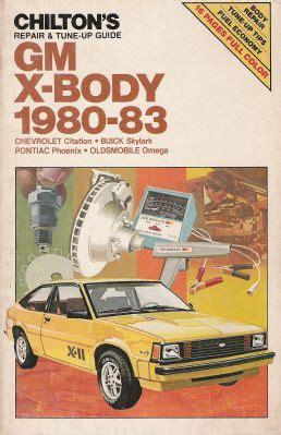 manual repair autos 1980 chevrolet citation on board diagnostic system 1980 1985 gm x body citation skylark phoenix omega chilton s manual