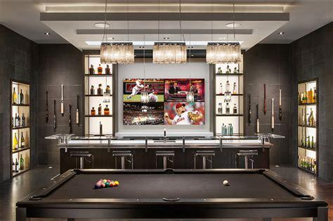 minimalist mountainside contemporary home bar
