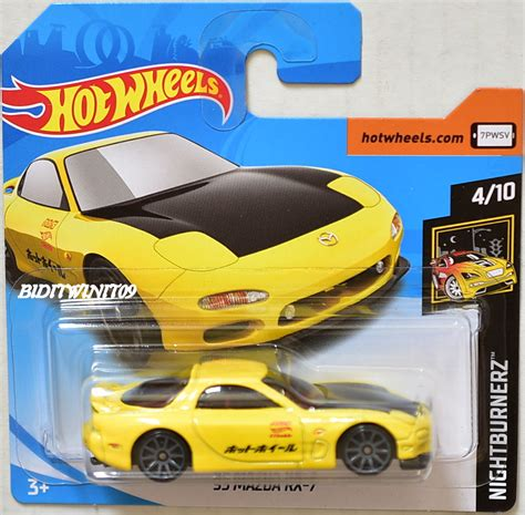 wheels 2018 nightburnerz 95 mazda rx 7 4 10 yellow