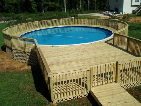 Pool Deck Plans by Oval Above Ground Pool Deck Plans Images And Beautiful