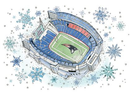 winter at gillette stadium holiday cards look love send - Gillette Stadium Gift Cards