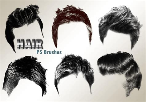 template hairstyle photoshop 20 hair male ps brushes abr vol 2 free photoshop